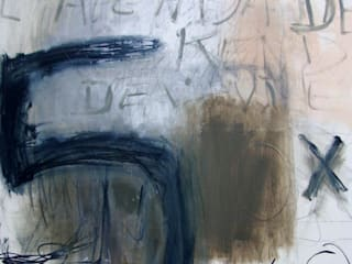 """"""" Mémento"""" Acrylique, mine graphite, pastel sur toile 2014. 100 x 80:  de style  par Mae Azzopard"""