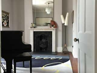 Deirdre Dyson's GEO-SPRING rug in a Surrey Music Room Deirdre Dyson Carpets Ltd Walls & flooringWall & floor coverings