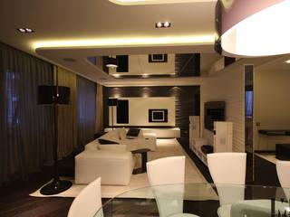 Черное и белое Столовая комната в стиле минимализм от ММ-design Минимализм