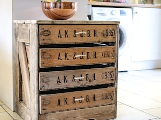 1985 Chest of 4 Drawers:   by Vintage Apple Crates