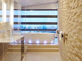 Penthouse Interior Design, River Thames, London 모던스타일 욕실 by Residence Interior Design Ltd 모던