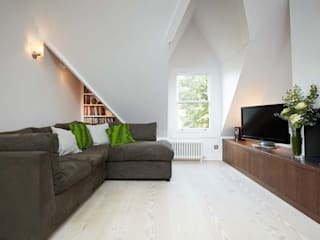 Parliament Hill Interior Design, Hampstead, London Residence Interior Design Ltd Ruang Keluarga Gaya Skandinavia
