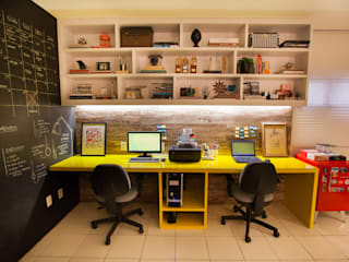 Industrial style study/office by Passo3 Arquitetura Industrial
