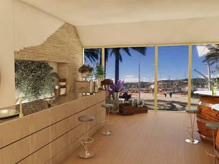 VISUALIZZAZIONE GRAFICA LOCALE MULTIFUNZIONALE: Spazi commerciali in stile  di Home-designer.it  Consulenza e Progettazione Interni
