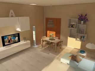 SALOTTO PRIVATO: Sala da pranzo in stile  di Home-designer.it  Consulenza e Progettazione Interni