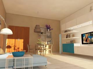 VISUALIZZAZIONE GRAFICA SALOTTO PRIVATO: Sala da pranzo in stile  di Home-designer.it  Consulenza e Progettazione Interni