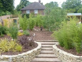 Newly completed garden, West Malling Cowen Garden Design