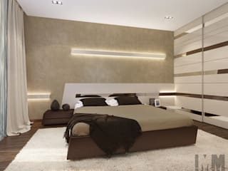 Динамика параллелограмма Спальня в стиле минимализм от ММ-design Минимализм