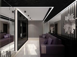 Фьюжн в чёрно-бежевом Гостиная в классическом стиле от ММ-design Классический