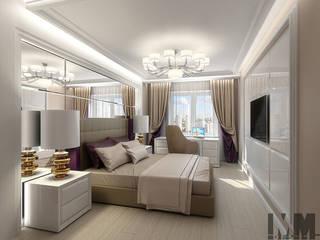 Фьюжн в чёрно-бежевом Спальня в классическом стиле от ММ-design Классический