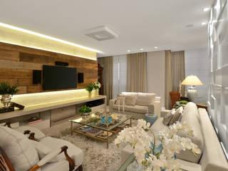 Salones de estilo clásico de Redecker + Sperb arquitetura e decoração Clásico