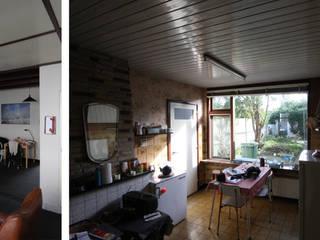 verbouwing en uitbreiding woning Groede: modern  door Obliq Architectuur, Modern