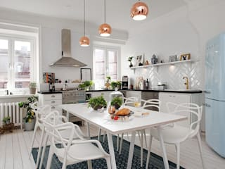 Alvhem Mäkleri & Interiör - kitchen Scandinavian style living room by Magdalena Kosidlo Scandinavian
