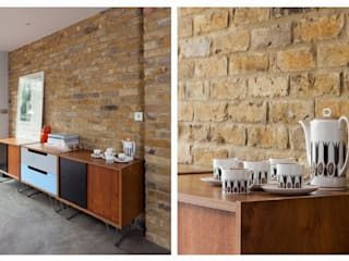 Retro Style Dining Space:  Kitchen by Casey & Fox Ltd