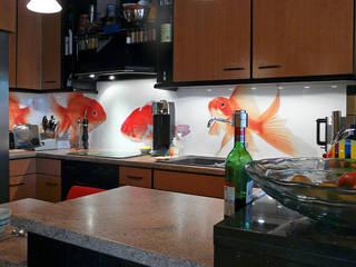Küchenrückwand mit Goldfisch-Motiv:   von Schön und Wieder