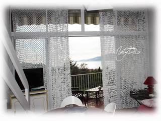 rideau de camouflage blanc par Natydeco Éclectique