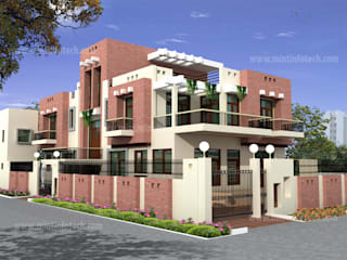 Exterior renderings:   by Mint Infotech Pvt Ltd