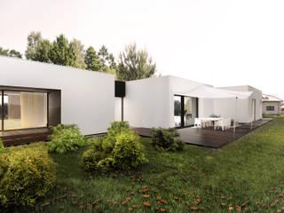 dom horyzontalny: styl , w kategorii Domy zaprojektowany przez Libido Architekci
