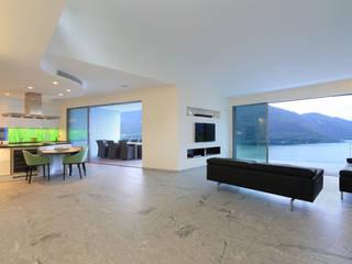 Salas modernas de Aldo Rampazzi Studio di Architettura Moderno