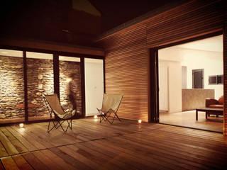 // Extension d'une maison nantaise Salon moderne par Gaspar. Architecture et Design Moderne