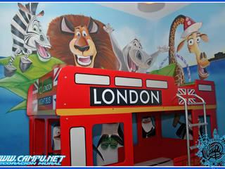 mural pintado a mano Dormitorios infantiles de estilo moderno de CAMPU.NET Moderno