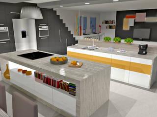 Cuisine à double ilot Cuisine moderne par HanaK Décoration Moderne