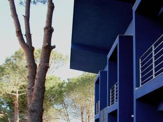 Le case blu  a Tremilia. Siracusa:  in stile  di Vincenzo Latina Architetti