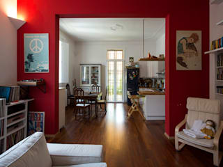 B-B' House Salones de estilo moderno de BRENSO Architecture & Design Moderno