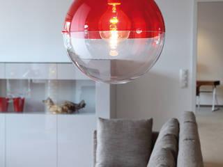 Pendelleuchte ORION, transparent rot:   von koziol »ideas for friends GmbH