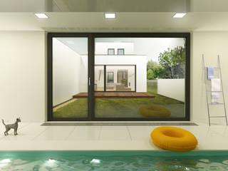 dom 10m: styl , w kategorii Domy zaprojektowany przez Libido Architekci