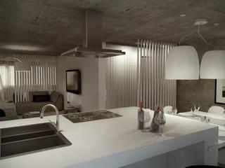 ห้องครัว โดย Santiago   Interior Design Studio , อินดัสเตรียล