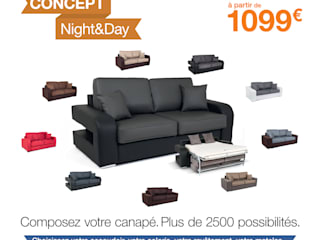 Canapé convertible Night And Day:  de style  par Basika