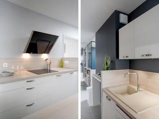 Cocinas de estilo  por Marion Lanoë Architecte d'Intérieur