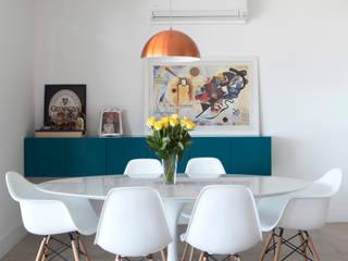 APARTAMENTO MOFARREJ: Salas de jantar  por Decorare Studio de Arquitetura,