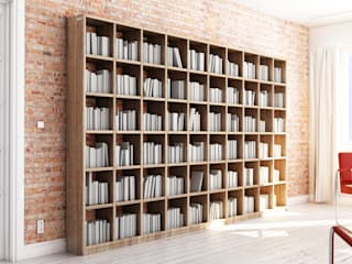 Bücherregal aus Massivholz nach Maß:  Wohnzimmer von Pickawood GmbH