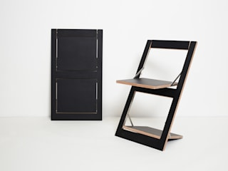Fläpps Folding Chair AMBIVALENZ Dining roomChairs & benches Plywood Black