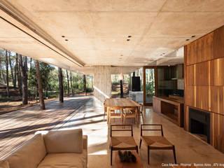 Casa Marino Livings modernos: Ideas, imágenes y decoración de ATV Arquitectos Moderno