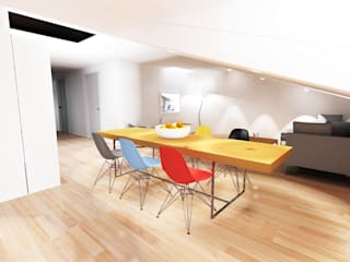 Un 3 Pièces Sous Les Toits Maisons modernes par ab interior design Moderne
