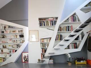 Vue de la bibliothèque: Maisons de style de style Moderne par Galaktik