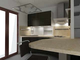 Kitchen: Cucina in stile in stile Moderno di Giuseppe Staglianò Architects