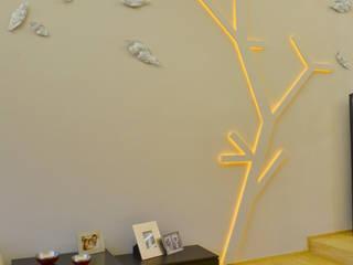 WALL TREE LAMP: Salas de estilo  por TAODESIGN  Taller de Ambientes y Objetos
