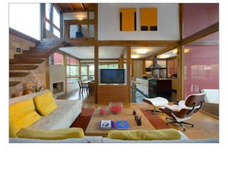 Forest House David Guerra Arquitetura e Interiores Salones de estilo rural