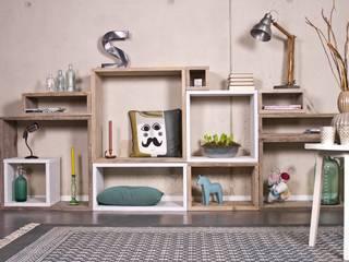 Cube Modulschrank 11 Fächer - 300 cm breit von PURE Wood Design Skandinavisch