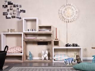Cube Modulschrank 8 Fächer - 220 cm breit von PURE Wood Design Skandinavisch