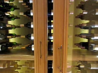 Armoire à vin sur mesure en chêne naturel Degré 12 Cave à vin Bois
