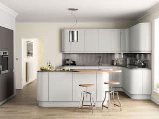Handleless Kitchens Leicester par The Leicester Kitchen Co Moderne