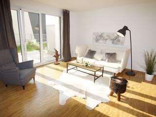 MUSTERHAUS nahe Heidelberg Industriale Wohnzimmer von HomeStagingDE Industrial