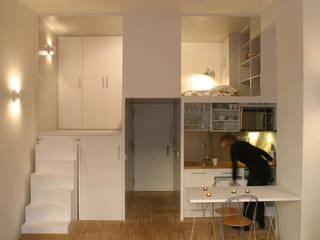 Loft DUQUE DE ALBA. Madrid: Cocinas de estilo minimalista de Beriot, Bernardini arquitectos