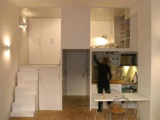 Loft DUQUE DE ALBA. Madrid Cocinas minimalistas de Beriot, Bernardini arquitectos Minimalista
