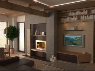 soggiorno #2:  in stile  di alfredo anfossi architetto